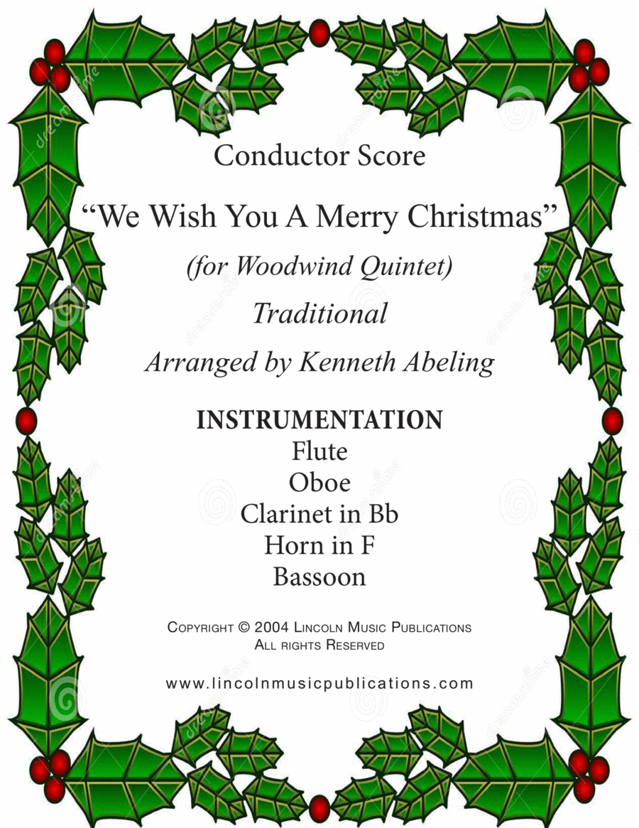 Jazz Carol - We Wish You a Merry Christmas (for Woodwind Quintet)