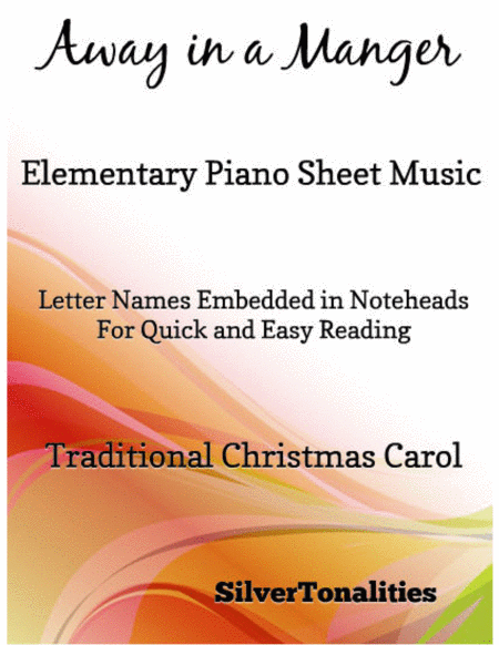 Away in a Manger Elementary Piano Sheet Music