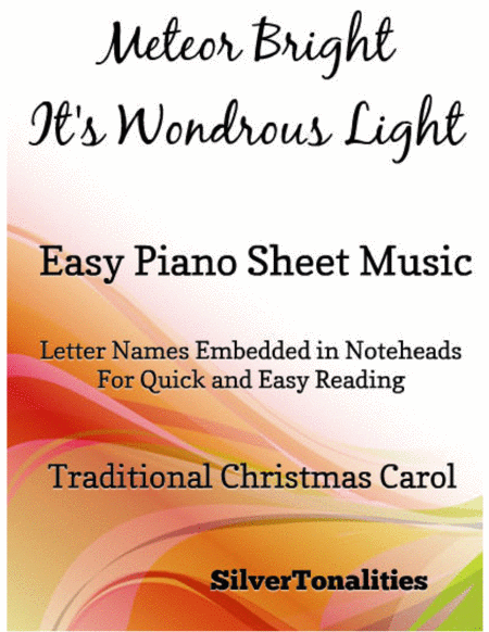 A Meteor Bright It's Wondrous Light Easy Piano Sheet Music