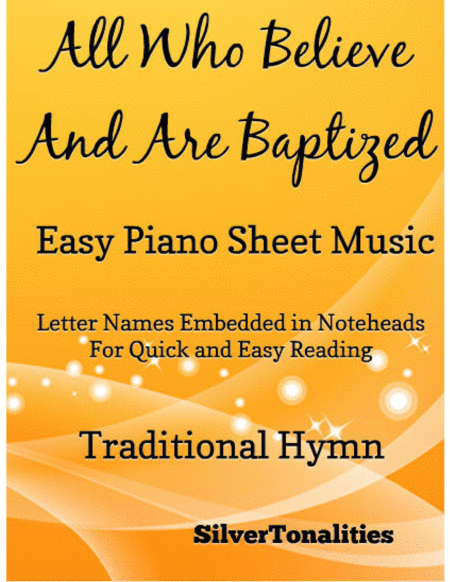 All Who Believe and Are Baptized Easy Piano Sheet Music