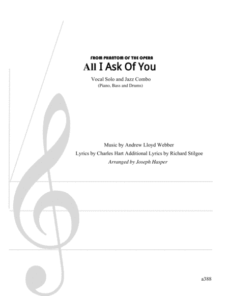 All I Ask Of You (Vocal and Jazz Combo)