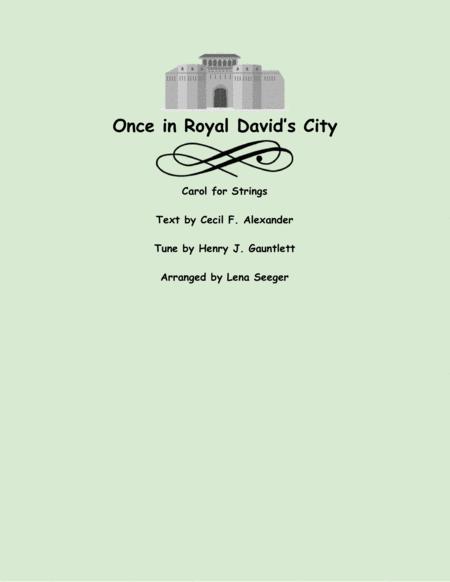 Once in Royal David's City (string trio)