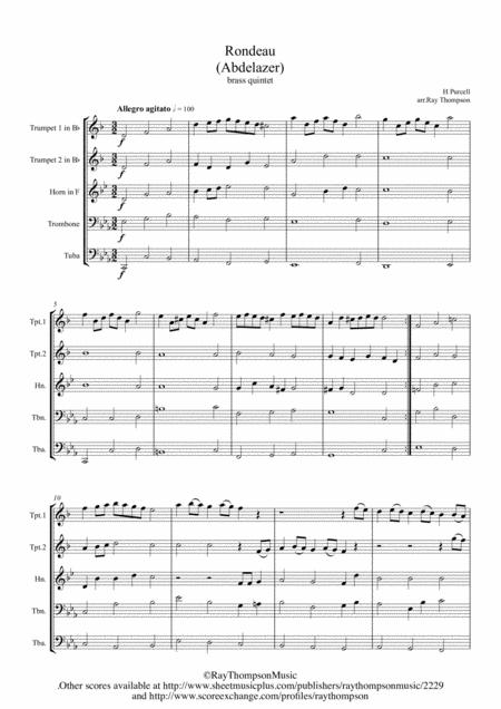 Purcell: Rondeau (Abdelazer) - brass quintet