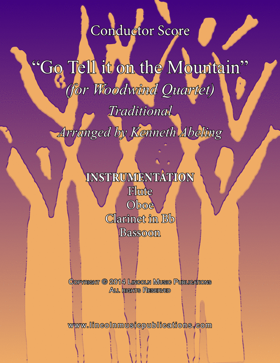 Jazz Christmas Carol - Go Tell it on the Mountain (for Woodwind Quartet)