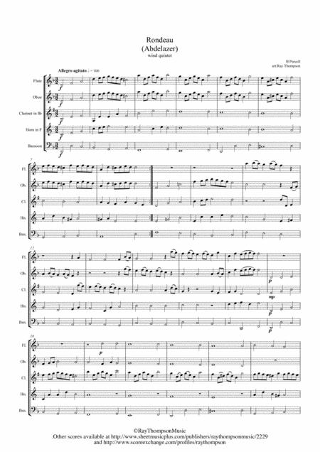 Purcell: Rondeau (Abdelazer) - wind quintet