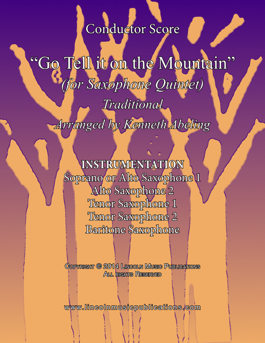 Jazz Christmas Carol - Go Tell it on the Mountain (for Saxophone Quintet SATTB or AATTB)