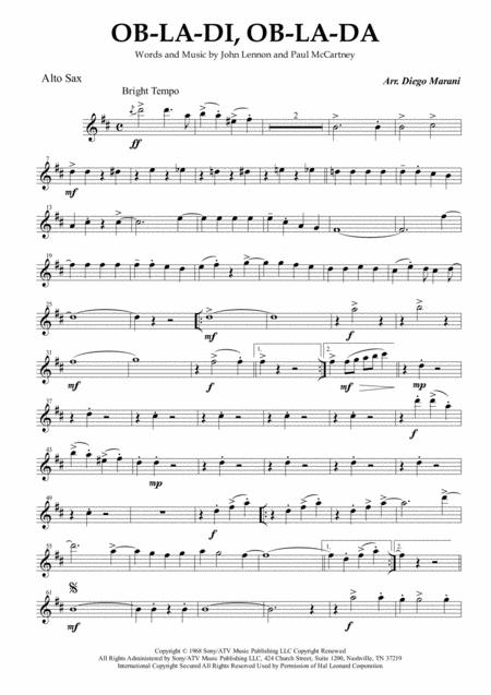 Ob-La-Di, Ob-La-Da for Saxophone Quartet