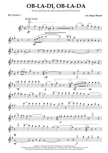 Ob-La-Di, Ob-La-Da for Clarinet Quartet