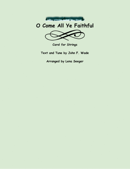 O Come All Ye Faithful (two violins and cello)