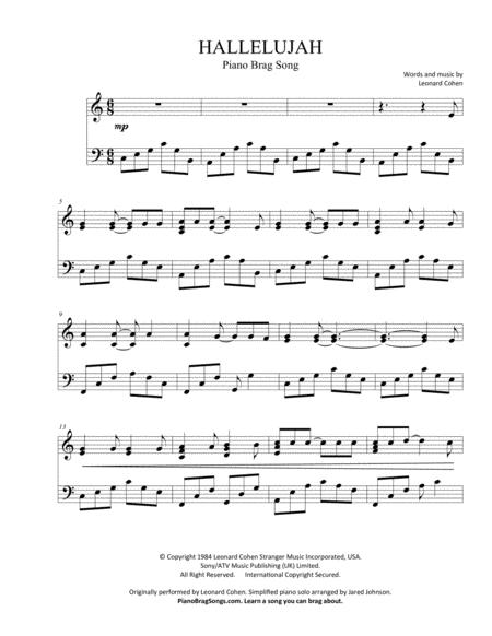 Hallelujah (Short Piano Solo)