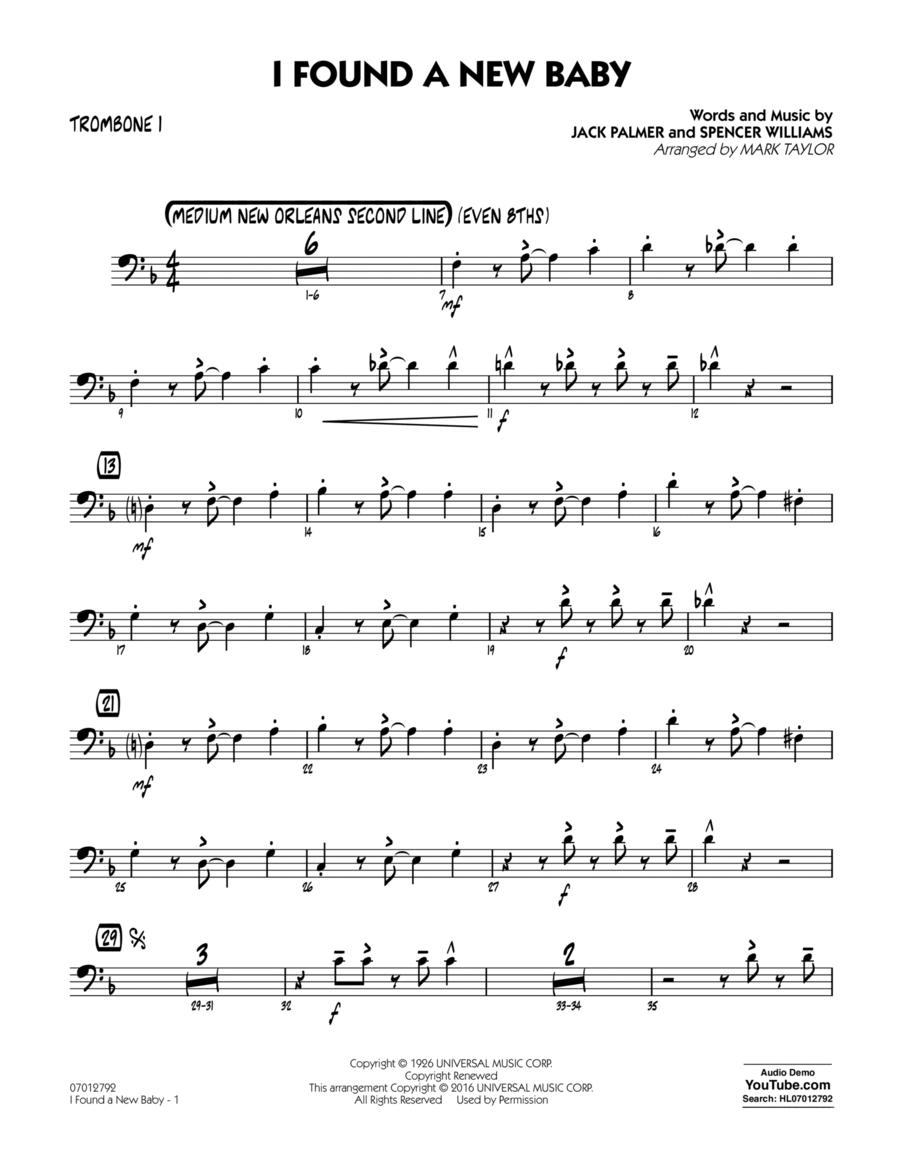 I Found a New Baby - Trombone 1
