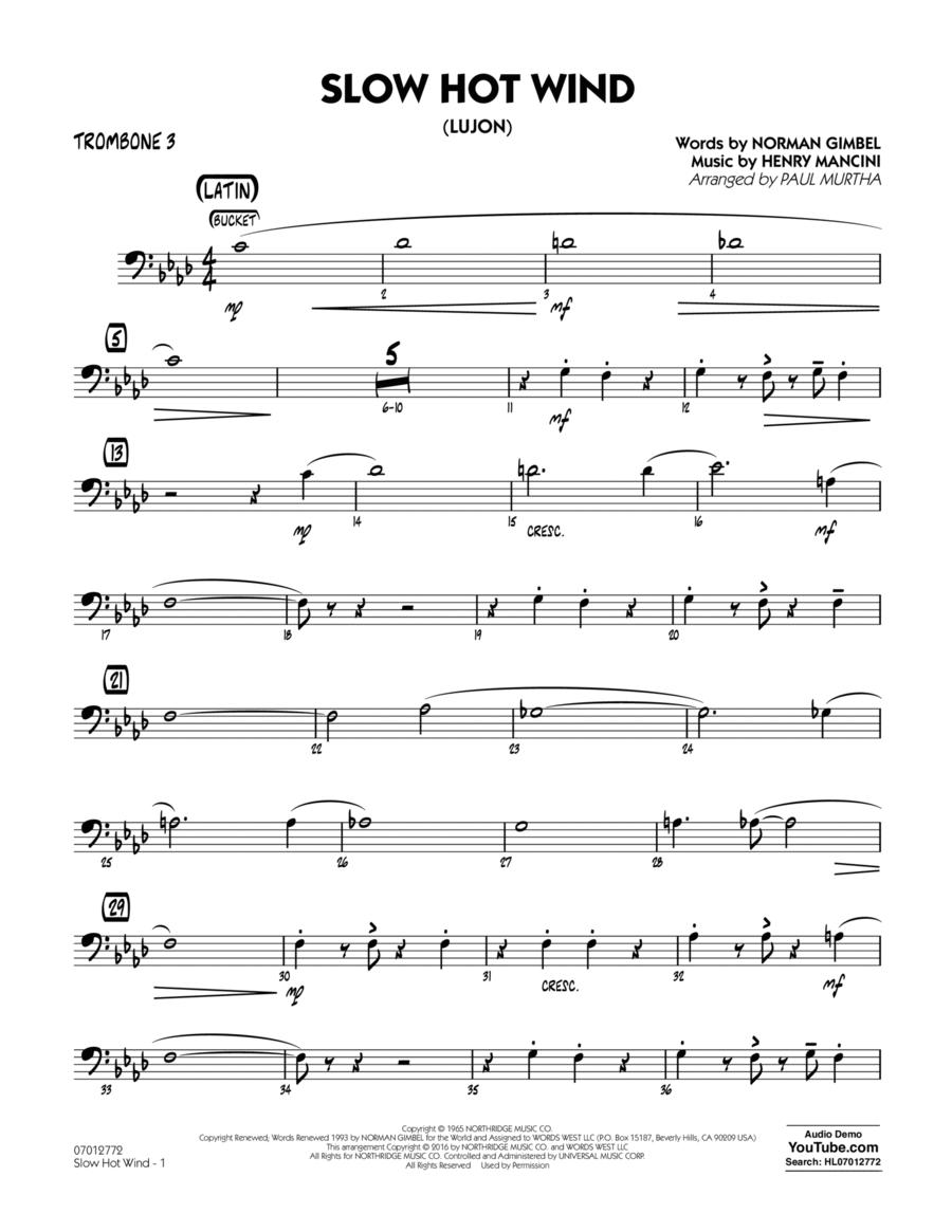 Slow Hot Wind (Lujon) - Trombone 3