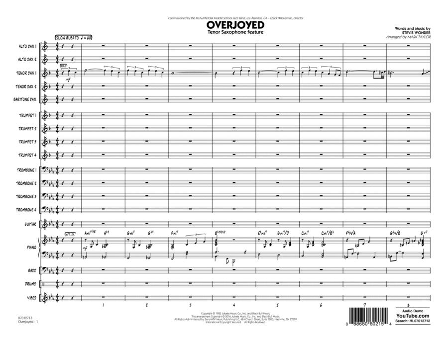 Overjoyed - Conductor Score (Full Score)