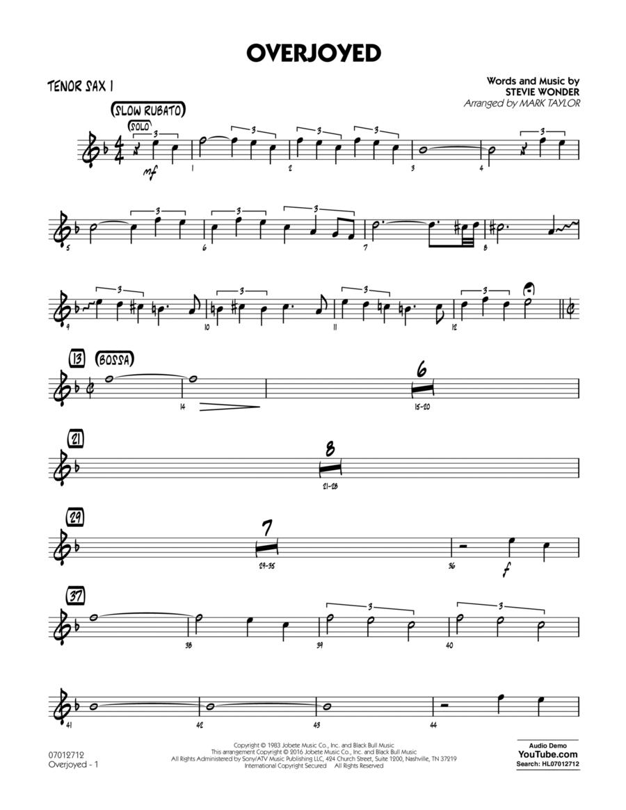 Overjoyed - Tenor Sax 1