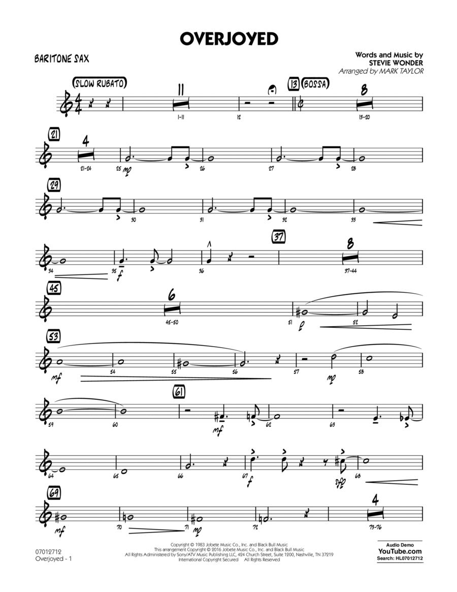 Overjoyed - Baritone Sax