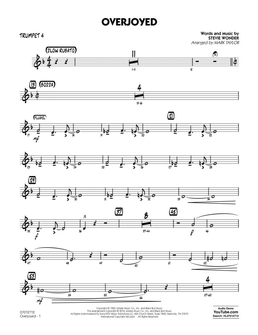 Overjoyed - Trumpet 4