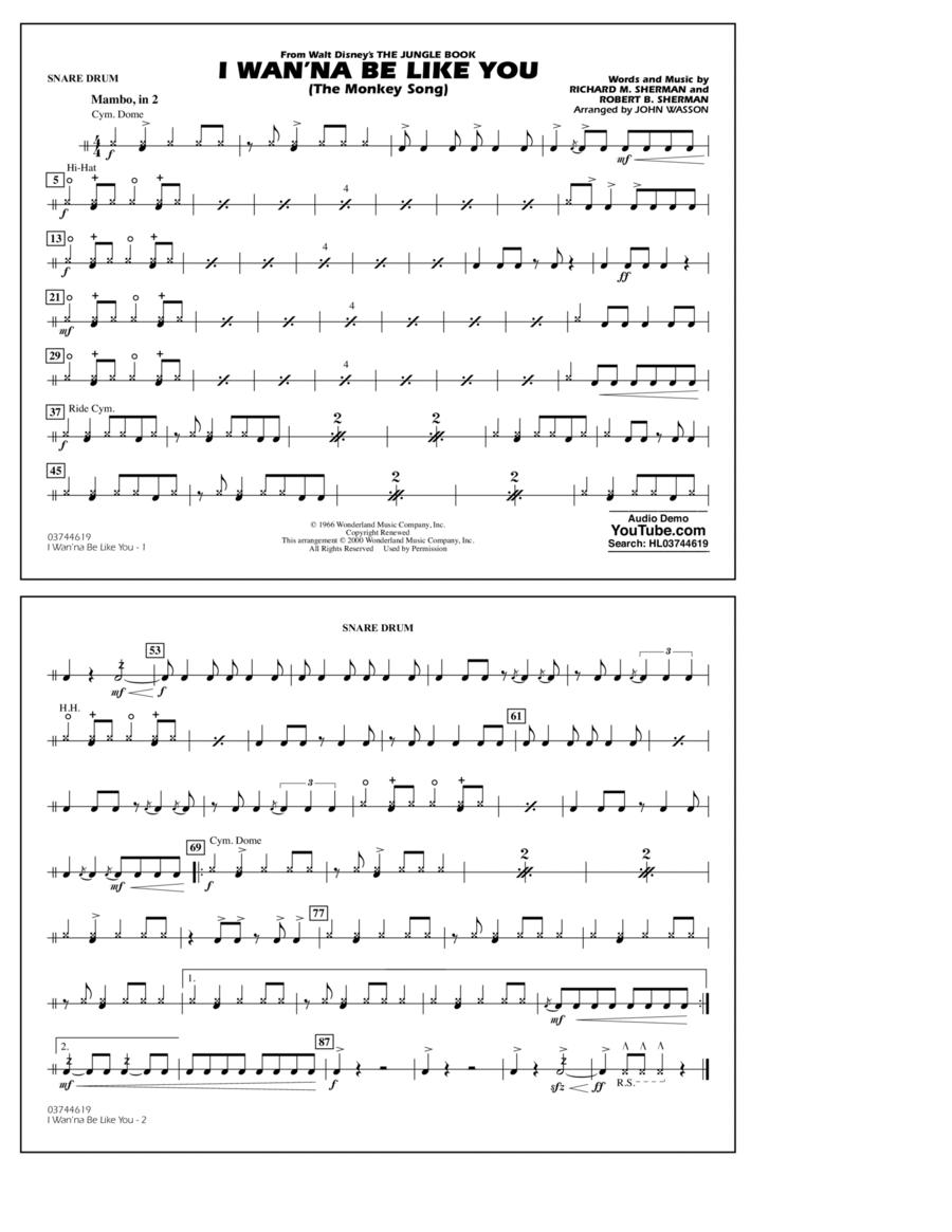 I Wan'na Be Like You - Snare Drum