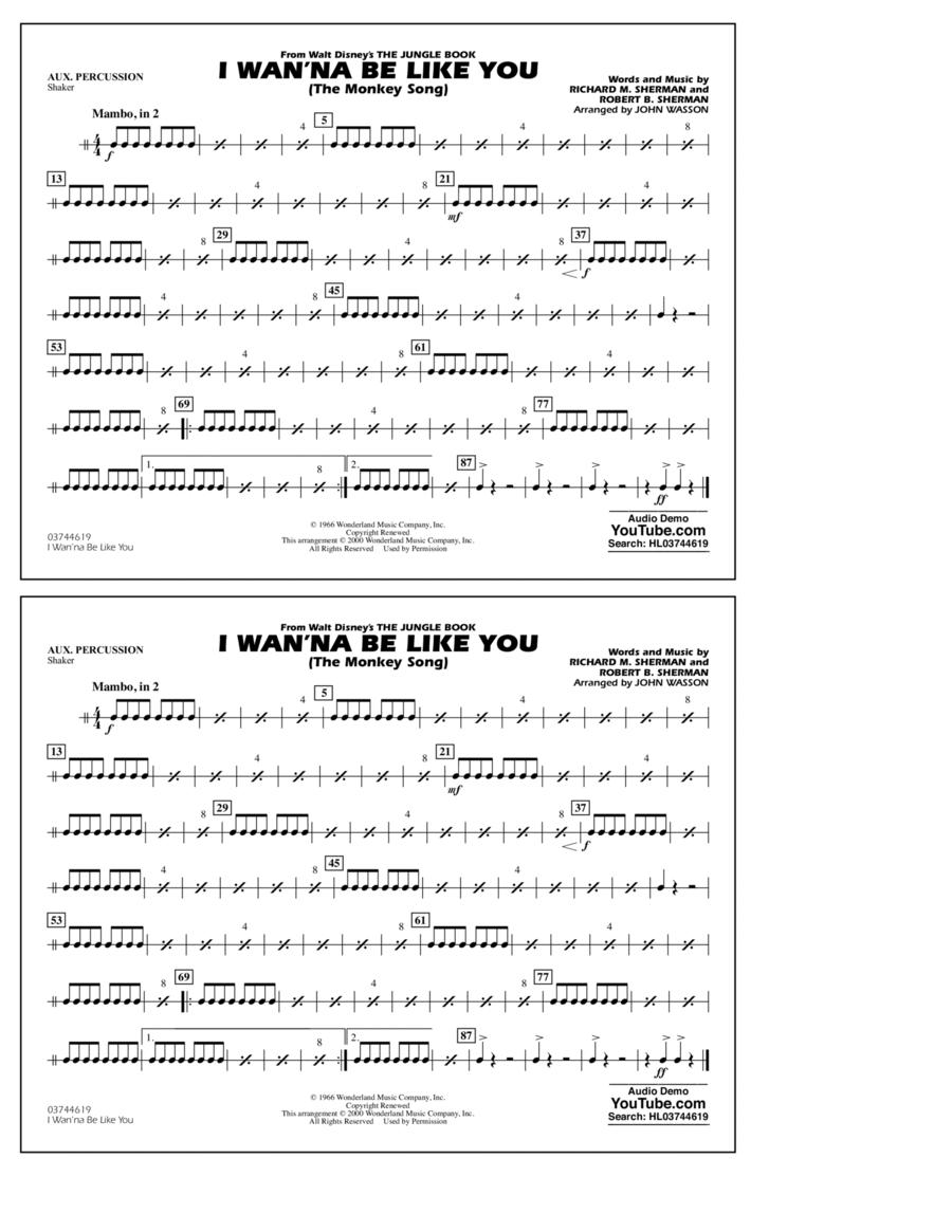 I Wan'na Be Like You - Aux Percussion