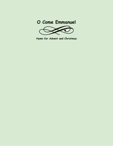 O Come Immanuel (two violins and cello)