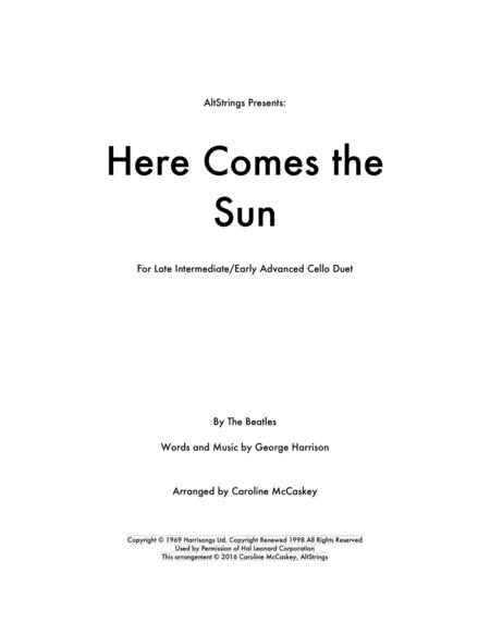 Here Comes The Sun - Cello Duet