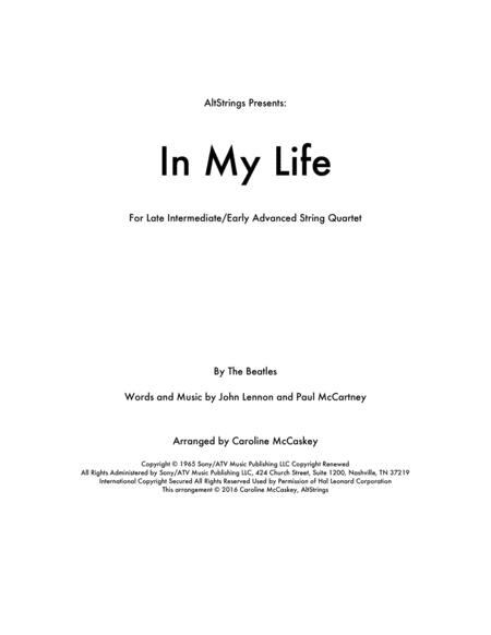 In My Life - String Quartet