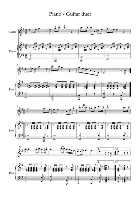 Classical guitar Piano duet