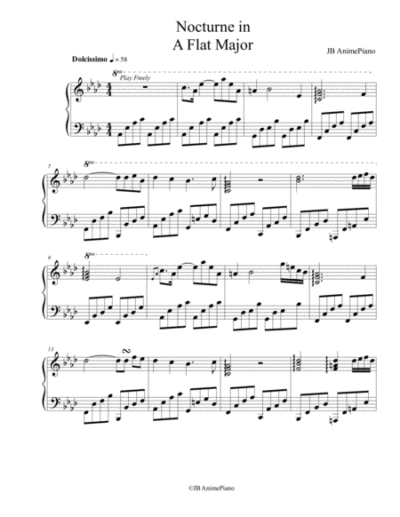 Nocturne in A Flat Major