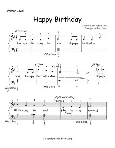 Happy Birthday (1st Year Students/PRIMER LEVEL)