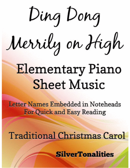 Ding Dong Merrily on High Elementary Piano Sheet Music