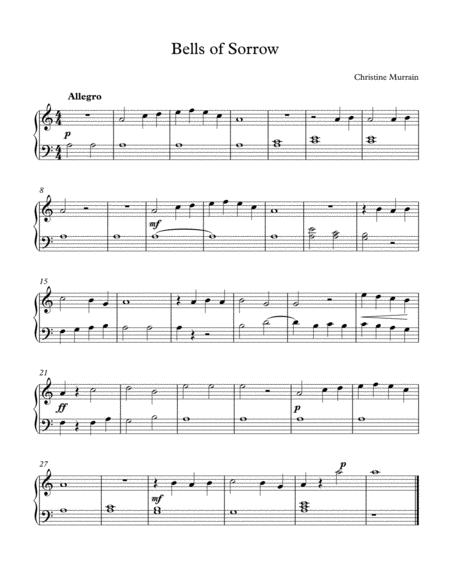 Bells of Sorrow-Easy Piano Solo
