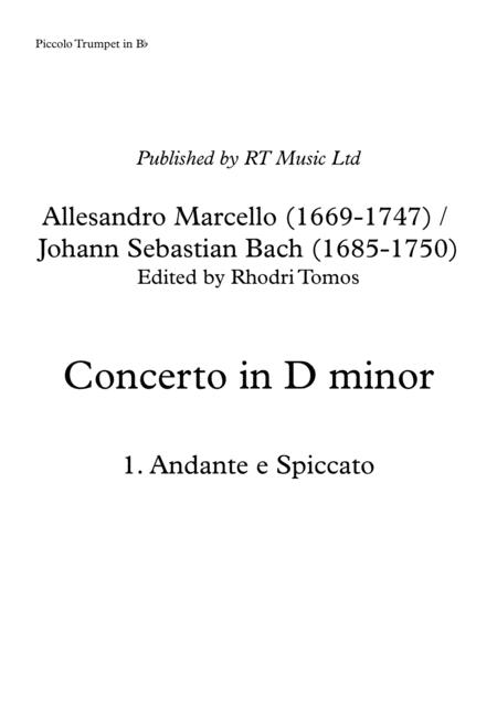 Marcello / Bach BWV974 Concerto no.3 in D minor