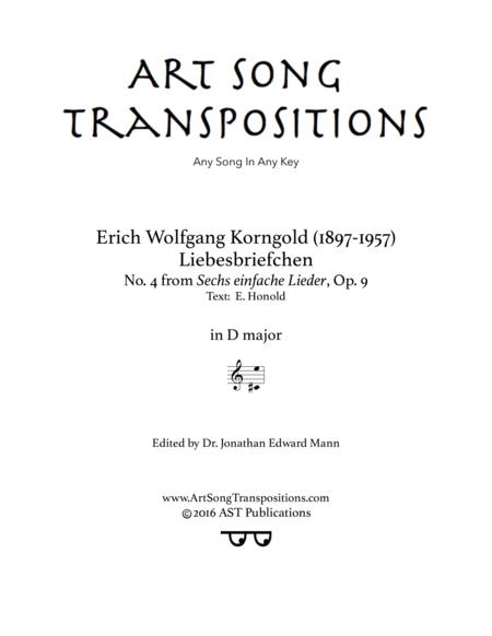 Liebesbriefchen, Op. 9 no. 4 (D major)