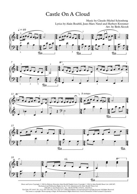 Castle On A Cloud (piano solo)