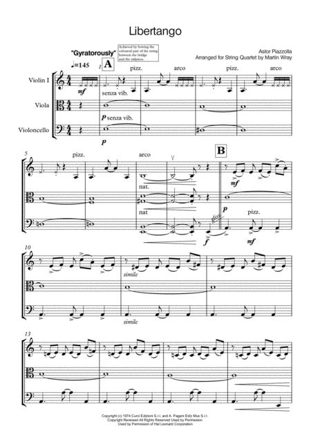 Libertango - String Trio