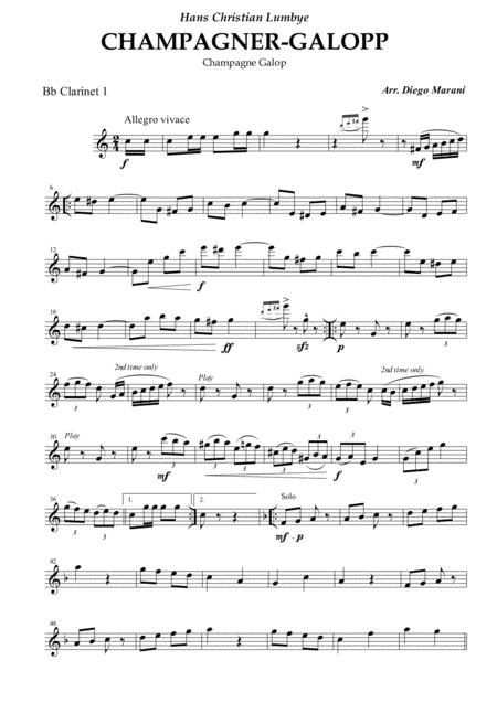 Champagne Galop for Clarinet Quartet