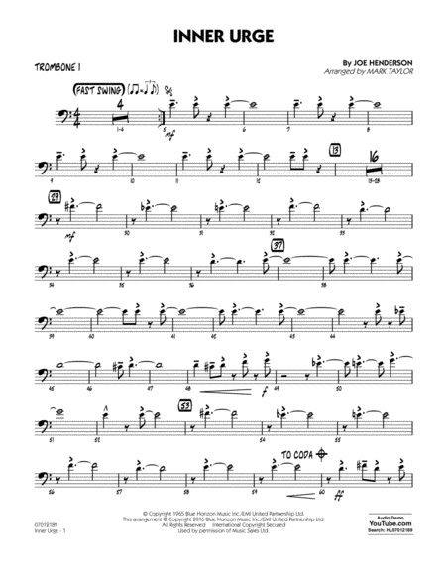 Inner Urge - Trombone 1