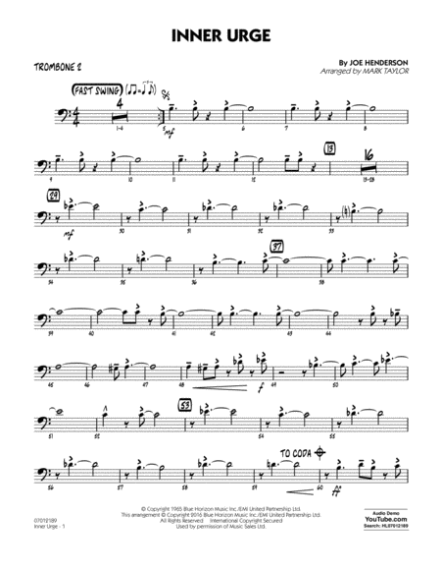 Inner Urge - Trombone 2