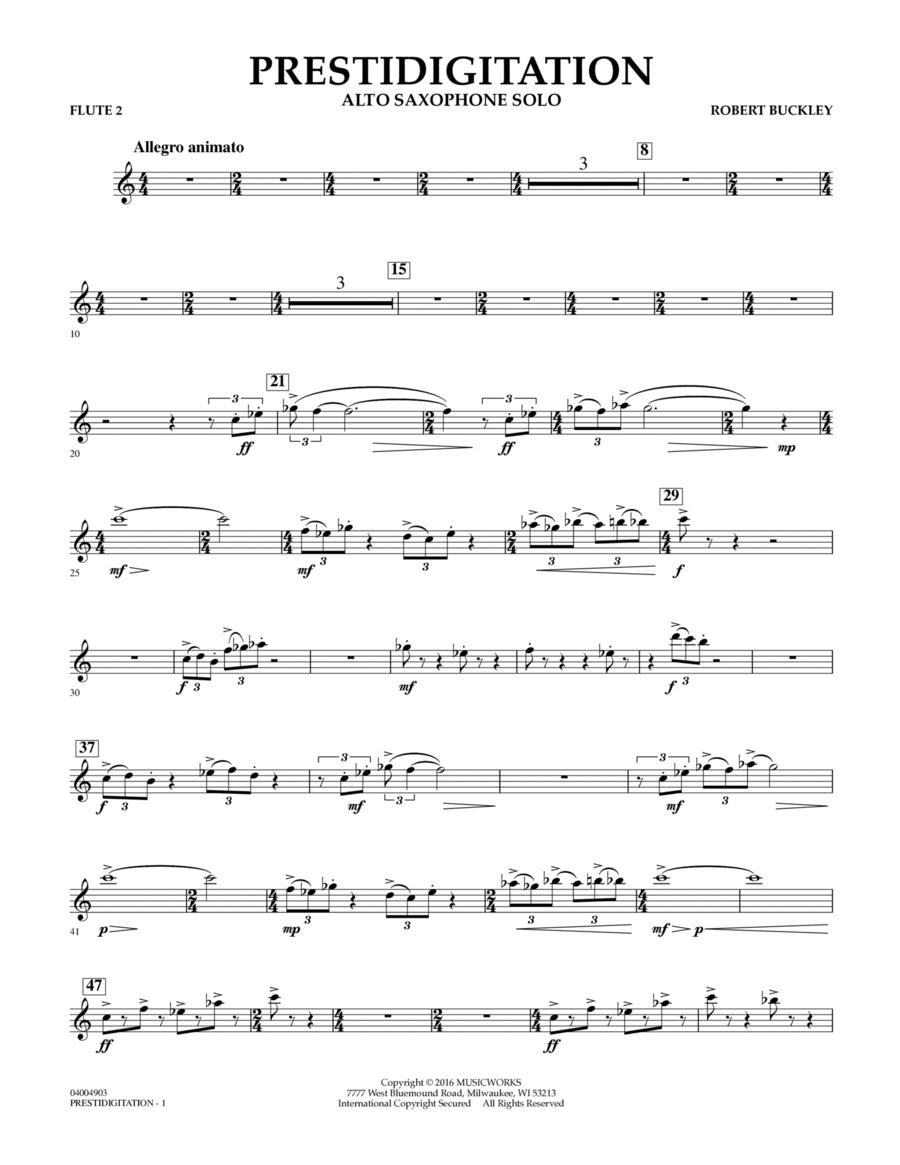 Prestidigitation (Alto Saxophone Solo with Band) - Flute 2
