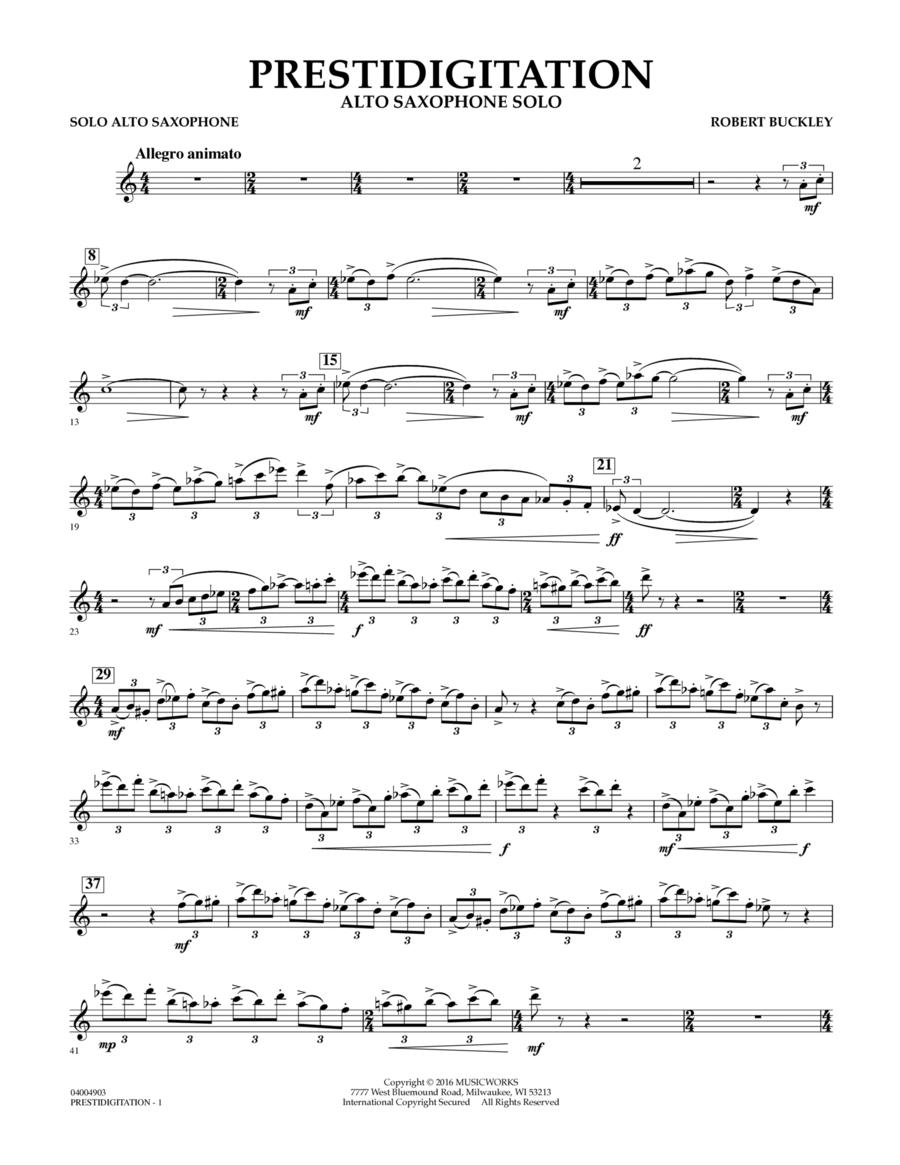 Prestidigitation (Alto Saxophone Solo with Band) - Eb Alto Saxophone Solo