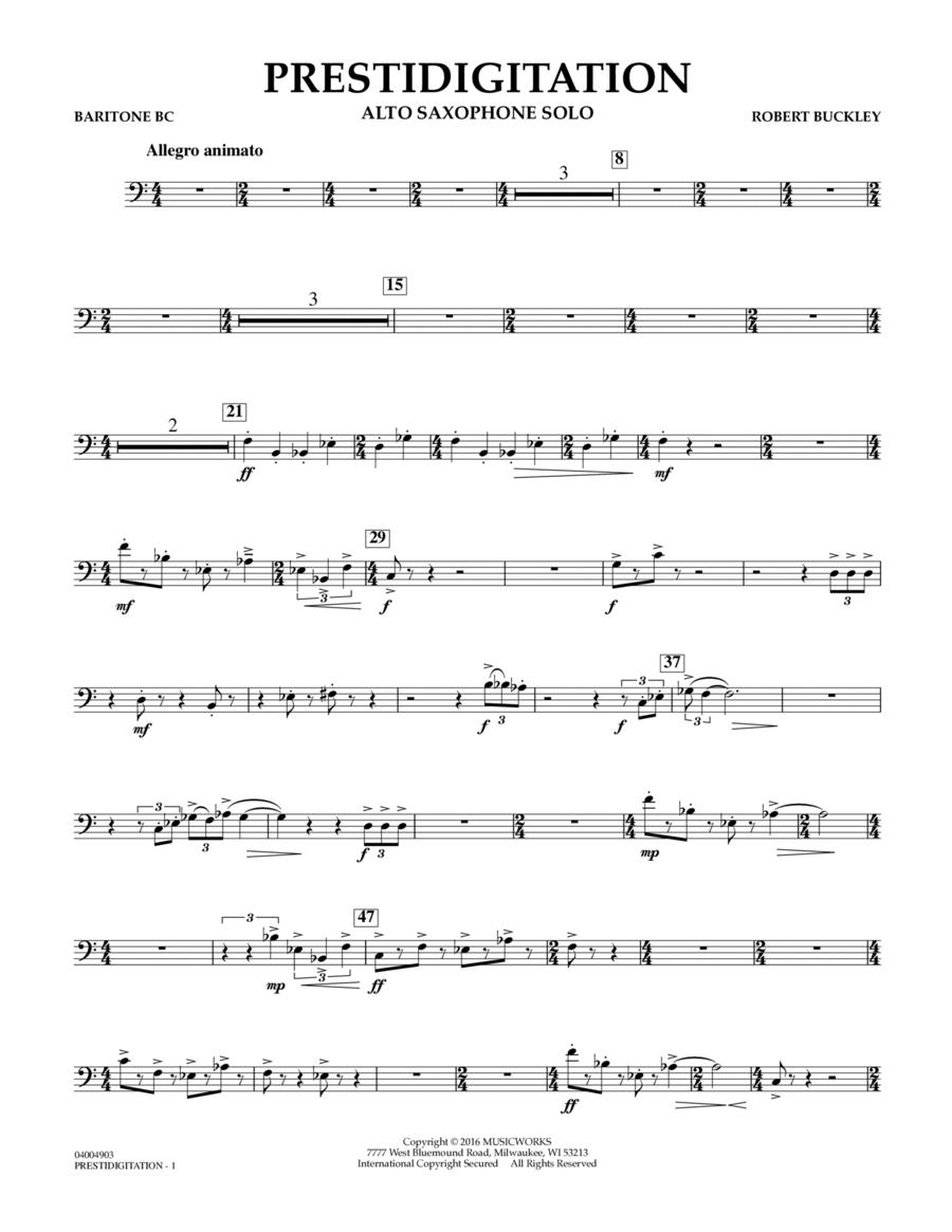 Prestidigitation (Alto Saxophone Solo with Band) - Baritone B.C.