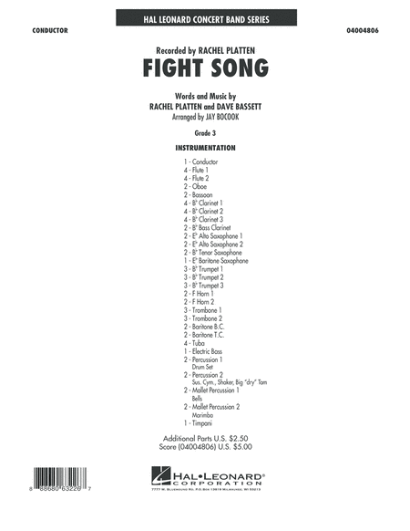 Fight Song - Conductor Score (Full Score)