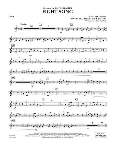Fight Song - Oboe