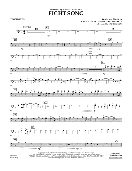Fight Song - Trombone 2