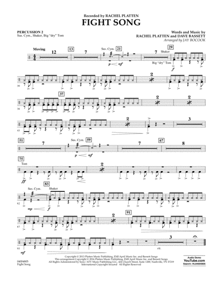 Fight Song - Percussion 2
