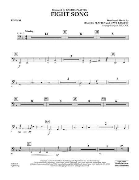 Fight Song - Timpani