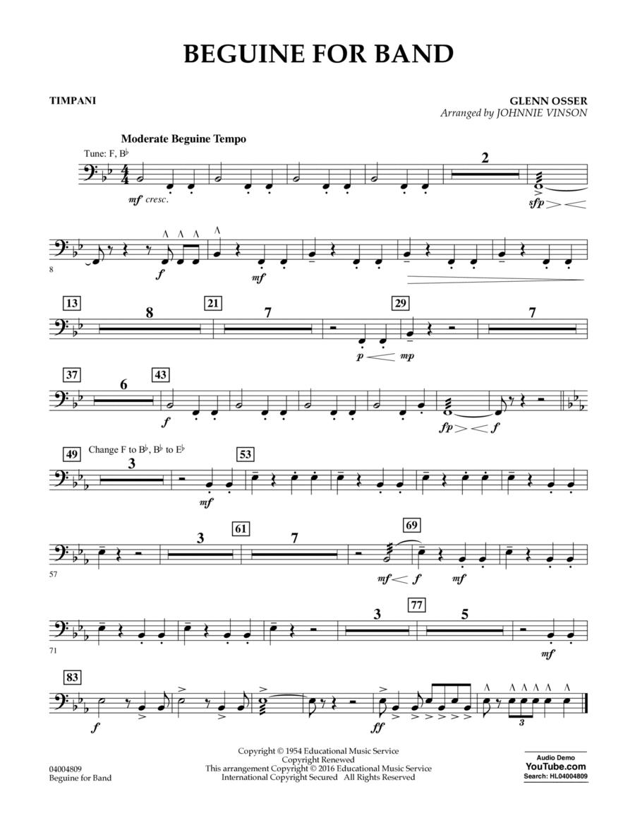 Beguine for Band - Timpani