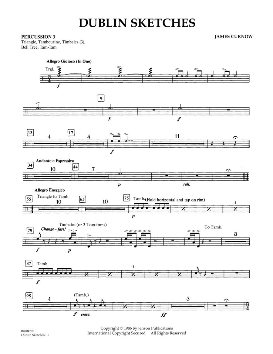 Dublin Sketches - Percussion 3