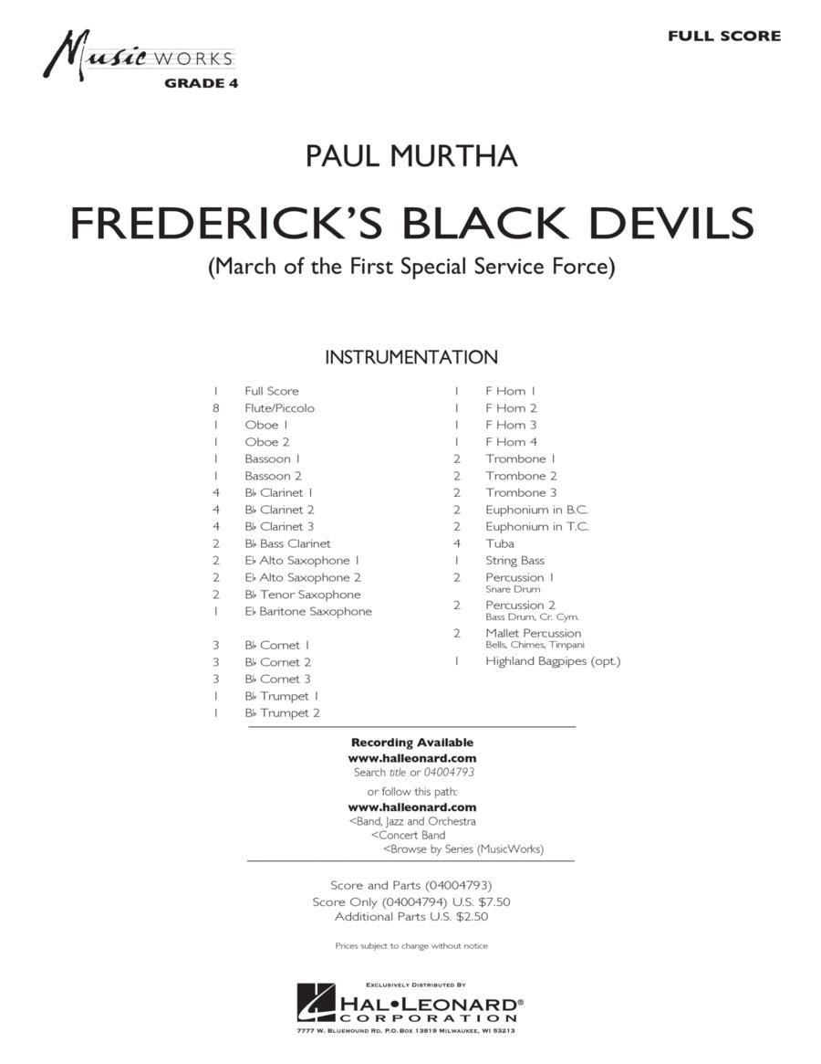 Frederick's Black Devils - Conductor Score (Full Score)