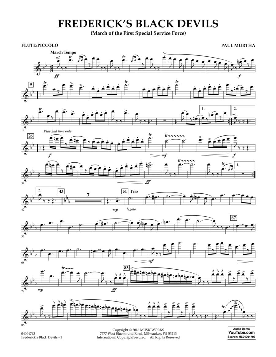 Frederick's Black Devils - Flute/Piccolo