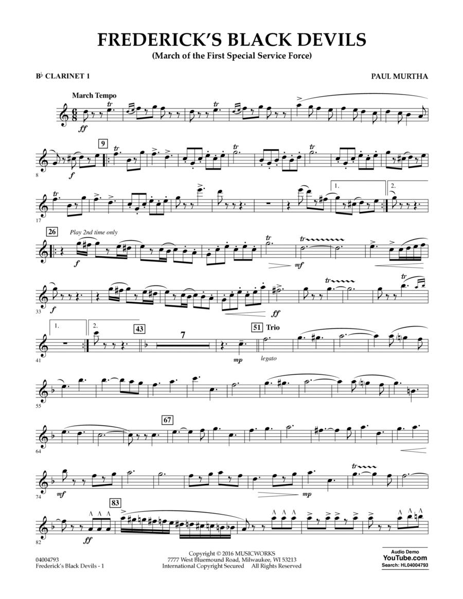 Frederick's Black Devils - Bb Clarinet 1